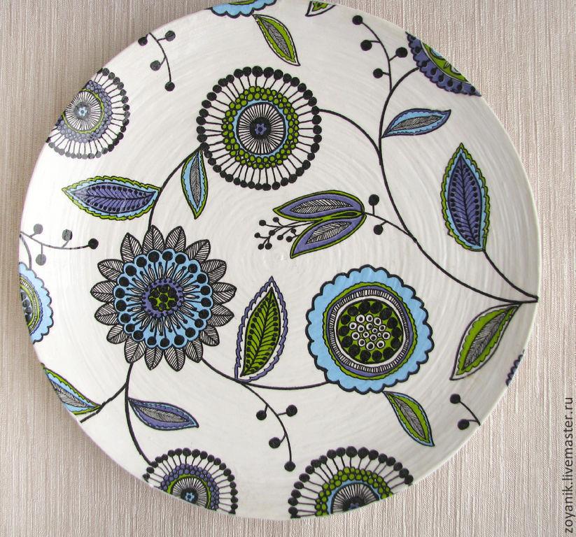 картинки тарелок с узорами построен, наличию