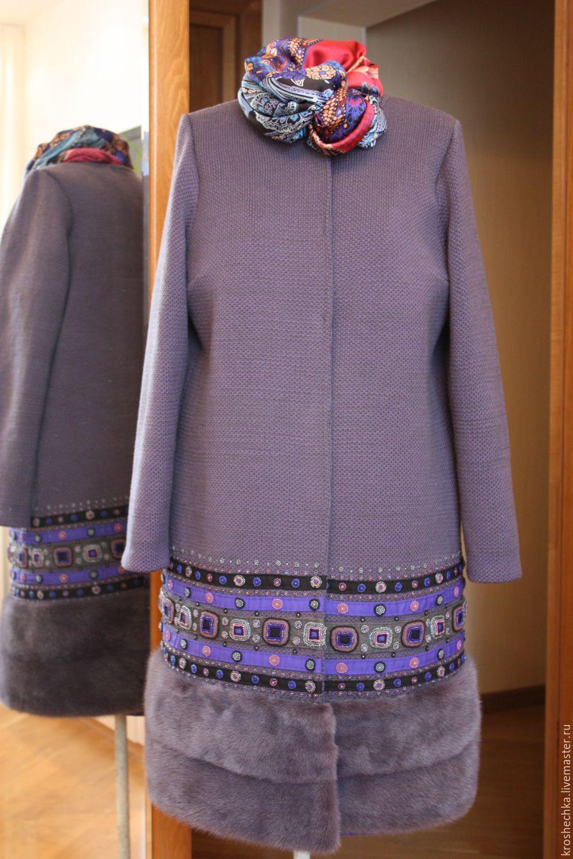 Купить пальто в вышивкой в интернет магазине