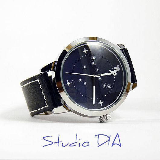 Дизайнерские Часы Знак Зодиака Козерог. Студия Дизайнерских Часов DIA.