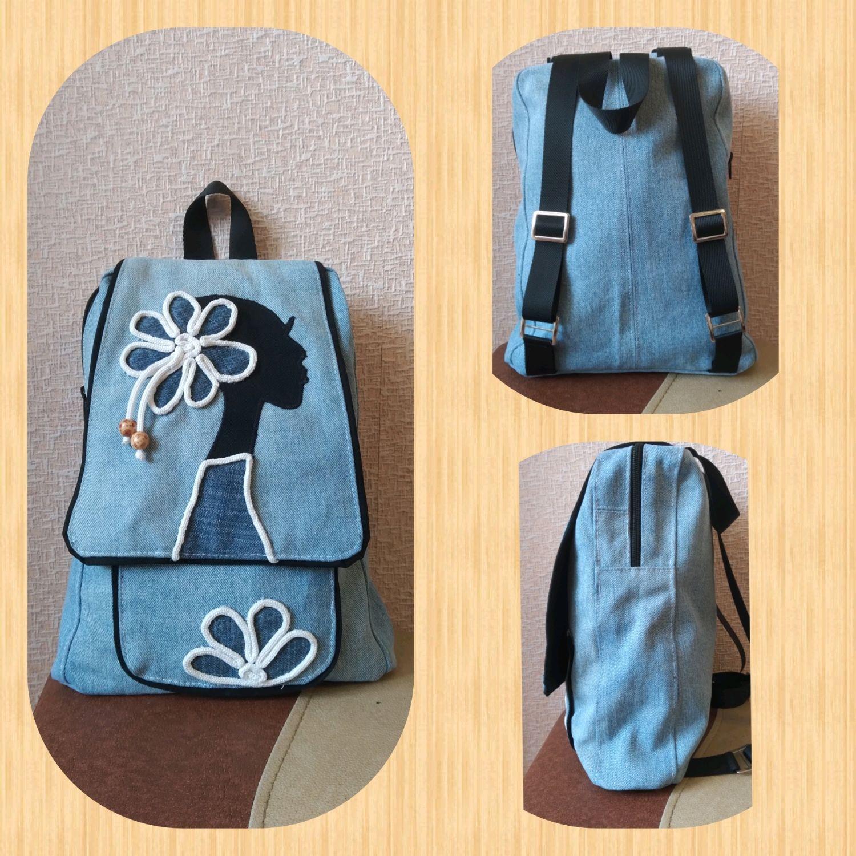 Рюкзак из джинсовой ткани, Рюкзаки, Новороссийск,  Фото №1