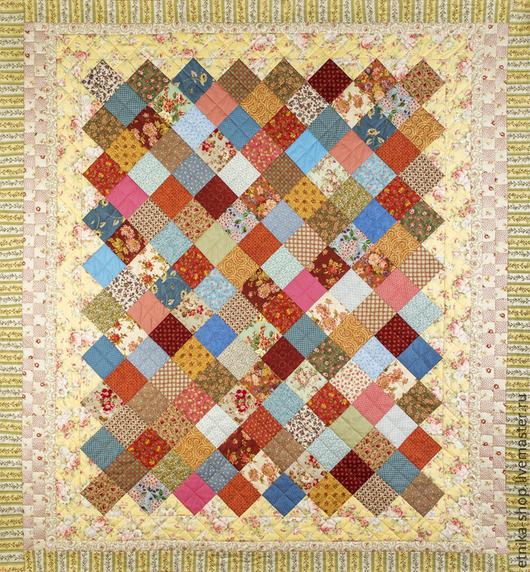"""Текстиль, ковры ручной работы. Ярмарка Мастеров - ручная работа. Купить Пэчворк покрывало """"Ретро 1"""" №12. Handmade."""