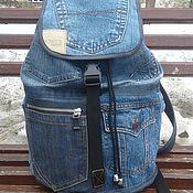handmade. Livemaster - original item Backpack denim Hunter. Handmade.