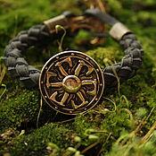 Украшения handmade. Livemaster - original item Bracelet with shield and axe ,leather bracelet. Handmade.