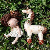 Куклы и игрушки ручной работы. Ярмарка Мастеров - ручная работа Принцесса и Единорог. Handmade.