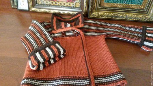 Одежда для девочек, ручной работы. Ярмарка Мастеров - ручная работа. Купить Детский вязаный кардиган для девочки. Handmade. Комбинированный