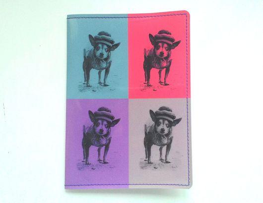 Обложки ручной работы. Ярмарка Мастеров - ручная работа. Купить Обложка для паспорта Собачка. Handmade. Брусничный, собака, романтический стиль