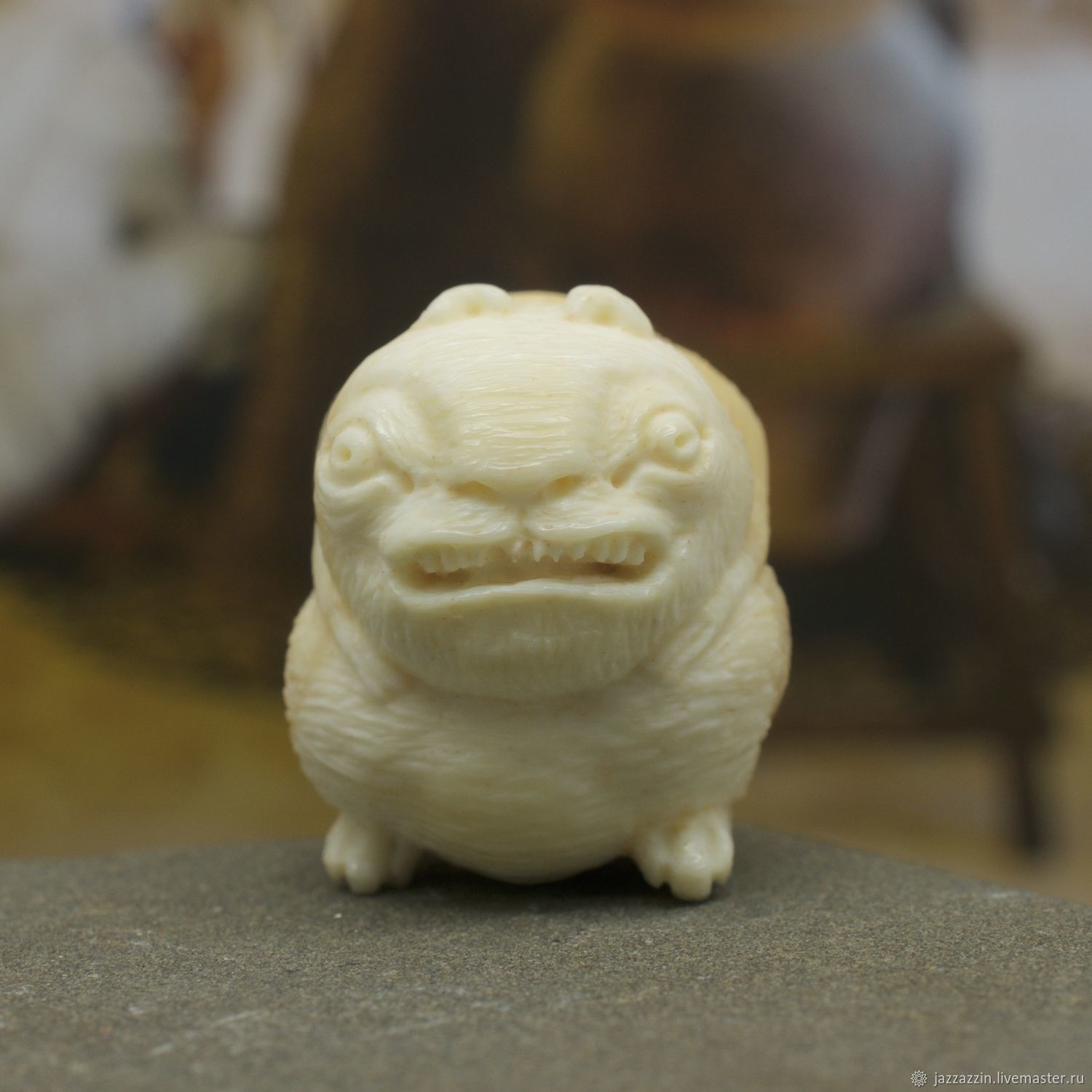 Miniature Models handmade. Livemaster - handmade. Buy Squirrel netsuke.Fantasy, traditional, whale tooth