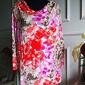 Одежда винтажная ручной работы. Ярмарка Мастеров - ручная работа Женская блуза, вискоза. Handmade.