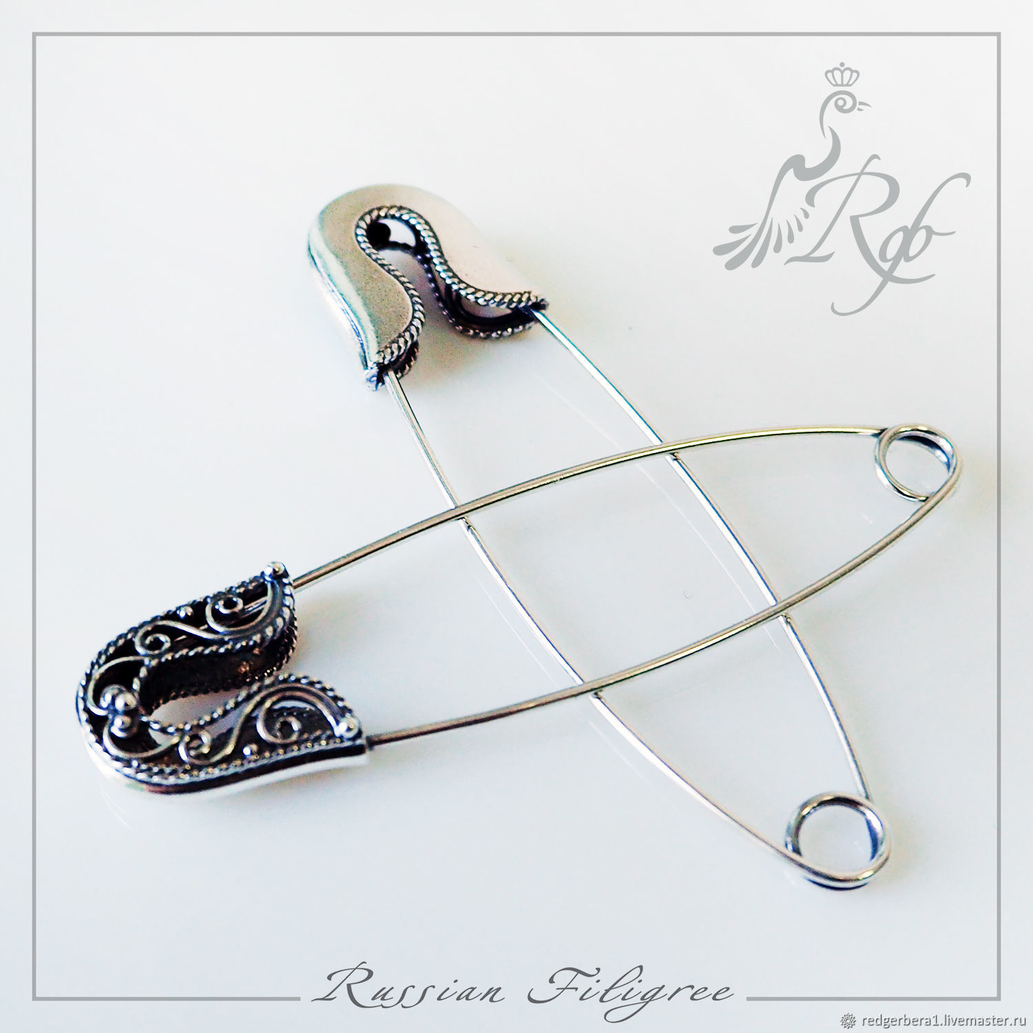 Basis for brooches, pins - silver 925, Blanks for jewelry, Kostroma,  Фото №1