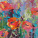 the painting 'poppies after the rain' (oil on canvas), Pictures, Voronezh,  Фото №1