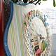"""Часы для дома ручной работы. Заказать Часы """"Время макарони!"""". Декор-студия Тальяновой Анны (Anhellikka). Ярмарка Мастеров. Песочный"""