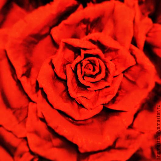 """Интерьерные композиции ручной работы. Ярмарка Мастеров - ручная работа. Купить Ростовой цветок """"Красная Роза"""". Handmade. Ярко-красный"""