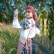 Русский стиль handmade. Livemaster - original item Smolensk women`s shirt. Handmade.
