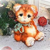 Тедди Зверята ручной работы. Ярмарка Мастеров - ручная работа Тедди Зверята: Рыжий кот.. Handmade.