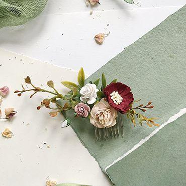 Украшения ручной работы. Ярмарка Мастеров - ручная работа Маленький гребень в прическу, гребень для невесты. Handmade.