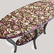 Дизайн и реклама ручной работы. Ярмарка Мастеров - ручная работа роспись столика. Handmade.