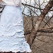 "Одежда ручной работы. Ярмарка Мастеров - ручная работа Валяная юбка ""Водопад -2"". Handmade."