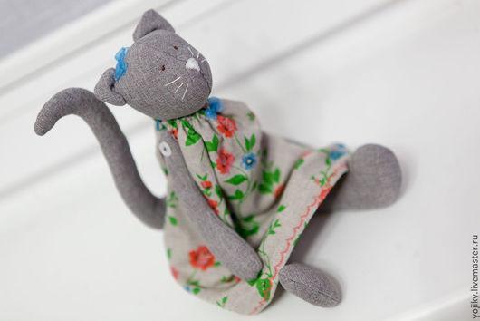 Куклы Тильды ручной работы. Ярмарка Мастеров - ручная работа. Купить Кошечка Тильда. Handmade. Серый, кот в подарок, габардин