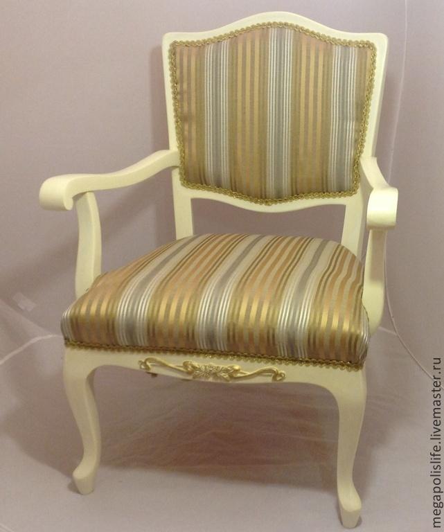 Мебель ручной работы. Ярмарка Мастеров - ручная работа. Купить Кресло. Handmade. Мебель, золотой, Дерево натуральное, декоративная тесьма