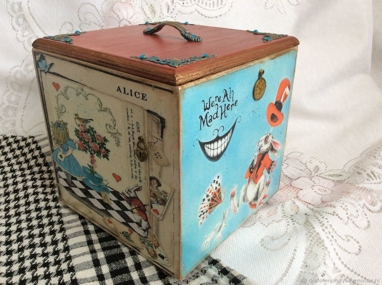 'We are all a little crazy' wooden box, Storage Box, Novosibirsk,  Фото №1