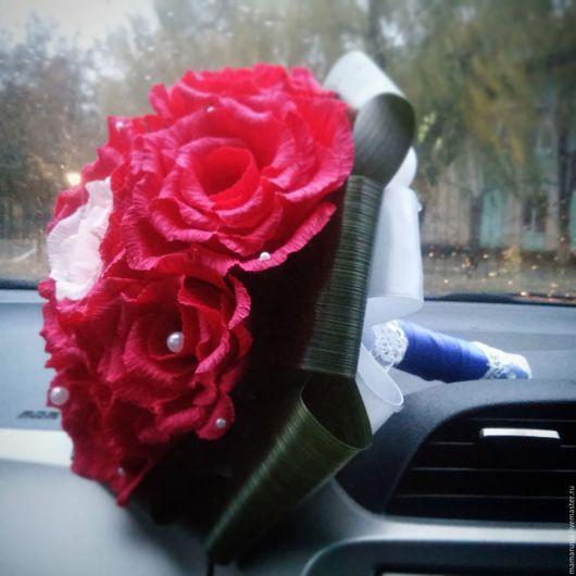Свадебные цветы ручной работы. Ярмарка Мастеров - ручная работа. Купить Букет-брошь. Handmade. Комбинированный, букет для невесты, аспидистра