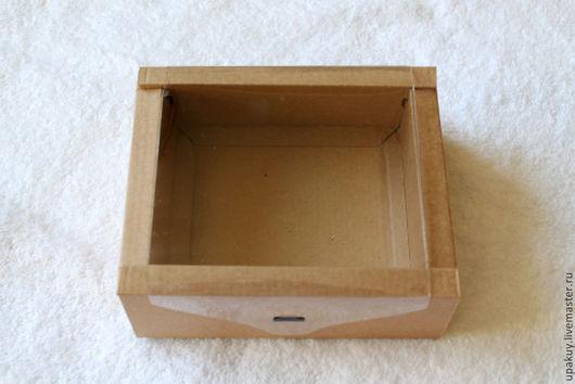 Упаковка ручной работы. Ярмарка Мастеров - ручная работа. Купить Подарочная коробка с прозрачной крышкой. Handmade. Гофрокартон, коробка подарочная