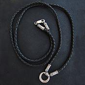 Украшения handmade. Livemaster - original item Leather cord with silver clasps. Handmade.