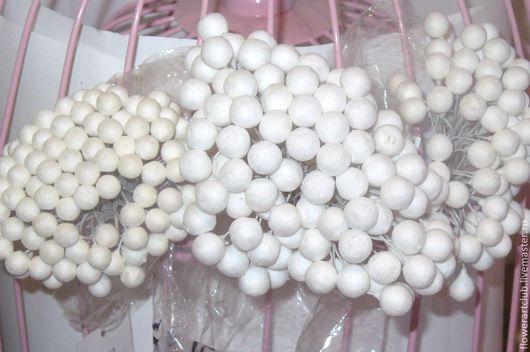 Другие виды рукоделия ручной работы. Ярмарка Мастеров - ручная работа. Купить Основы-шарики на пров. мелкие - 12 мм, 10 мм, 9 мм, 8 мм,  7 мм и 6 мм. Handmade.