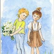 Картины и панно handmade. Livemaster - original item Flowers for you Watercolor Postcard or poster Gift for lovers. Handmade.