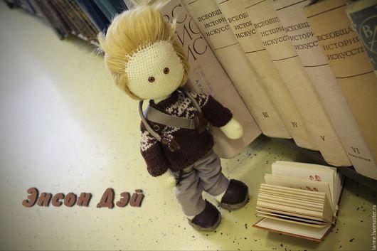 Куклы тыквоголовки ручной работы. Ярмарка Мастеров - ручная работа. Купить Вязаная интерьерная игрушка Энсон Дэй. Handmade.
