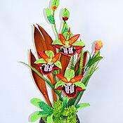 Цветы и флористика ручной работы. Ярмарка Мастеров - ручная работа Орхидея Офрис. Handmade.