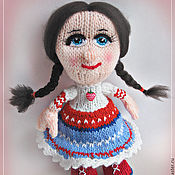 Куклы и игрушки ручной работы. Ярмарка Мастеров - ручная работа Куколка вязание спицами. Handmade.