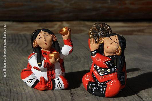 Коллекционные куклы ручной работы. Ярмарка Мастеров - ручная работа. Купить Танец с золотыми чашами. Handmade. Глина, авторская работа