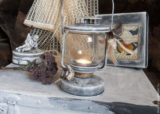 Подсвечники ручной работы. Ярмарка Мастеров - ручная работа. Купить Свечной фонарь в стиле прованс. Handmade. Фонарь, дача