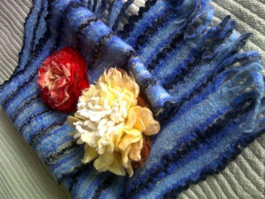 Броши ручной работы. Ярмарка Мастеров - ручная работа. Купить цветы. Handmade. Валяние мокрое, шерсть 100%