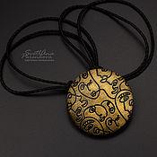 Украшения handmade. Livemaster - original item Golden contemplation pendant (677) handmade by the author. Handmade.