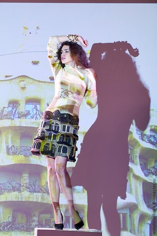 """Платья ручной работы. Ярмарка Мастеров - ручная работа. Купить Платье """"Дом Гауди - 2"""". Handmade. Бежевый, fashion"""