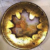 """Посуда ручной работы. Ярмарка Мастеров - ручная работа Тарелочка """"Осенний лист"""". Handmade."""