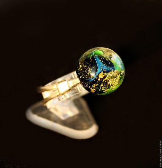 """Кольца ручной работы. Ярмарка Мастеров - ручная работа. Купить Кольцо """"Взгляд в ночное небо"""". Handmade. Черный, лунный, галактика"""