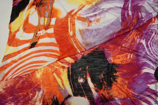 Шитье ручной работы. Ярмарка Мастеров - ручная работа. Купить Трикотаж вискозный яркая абстракция 11081965 Италия Цена за метр. Handmade.