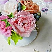 Цветы и флористика ручной работы. Ярмарка Мастеров - ручная работа Композиция в чашке. В наличии. Handmade.