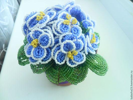 Цветы ручной работы. Ярмарка Мастеров - ручная работа. Купить фиалка. Handmade. Цветы из бисера, цветы, бисер, бисер