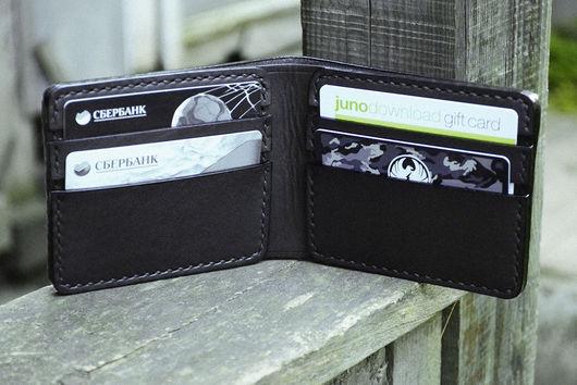 Кошельки и визитницы ручной работы. Ярмарка Мастеров - ручная работа. Купить Бумажник из натуральной кожи. кожаный кошелек, бесплатная доставка. Handmade.