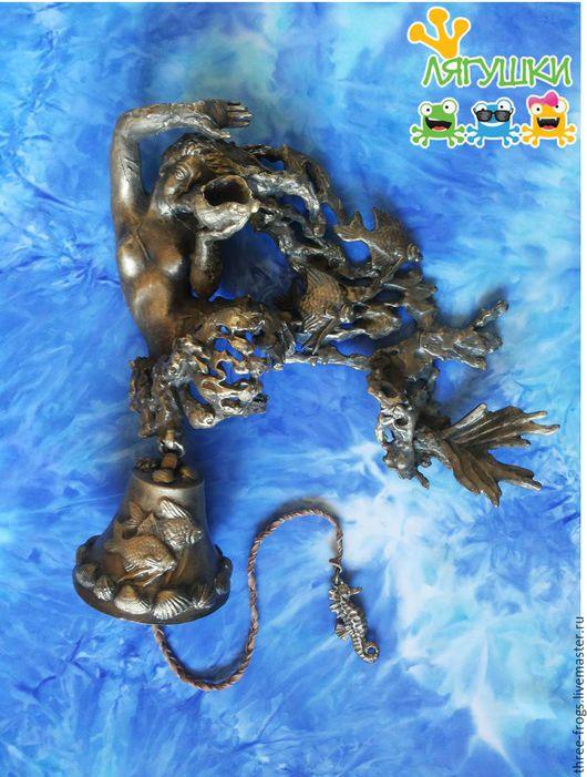 Колокольчики ручной работы. Ярмарка Мастеров - ручная работа. Купить Русалочка. Handmade. Латунь, подводное царство, Авторский дизайн