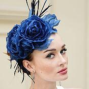 Свадебный салон ручной работы. Ярмарка Мастеров - ручная работа Ободок с синими розами. Ободки из цветов.. Handmade.