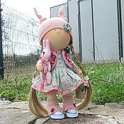 Куклы и игрушки ручной работы. Ярмарка Мастеров - ручная работа Кукла интерьерная Интерьерная кукла Аннет с корзиночкой цветов. Handmade.