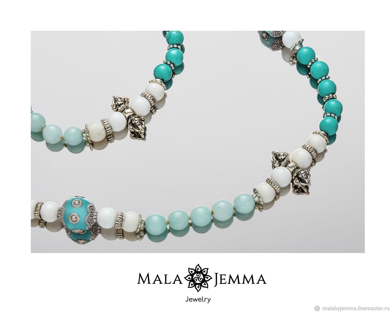 Boron Boron beads with amazonite, Beads2, Magnitogorsk,  Фото №1