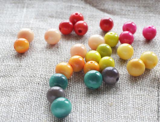 Для украшений ручной работы. Ярмарка Мастеров - ручная работа. Купить Бусины круглые, орех Тагуа, 9мм и 15 мм. Handmade.