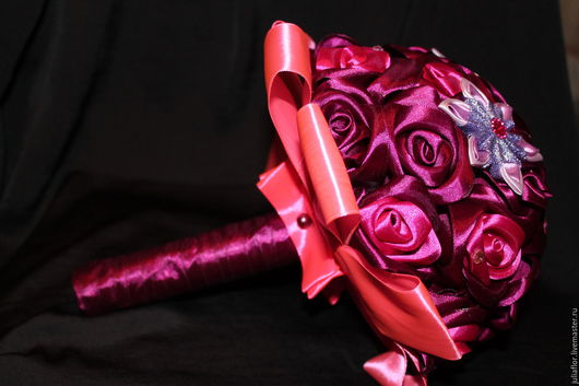 Свадебные цветы ручной работы. Ярмарка Мастеров - ручная работа. Купить Букет невесты ''Бордо''. Handmade. Букет невесты
