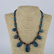 Украшения handmade. Livemaster - original item Necklace of natural stones (agate, hematite)